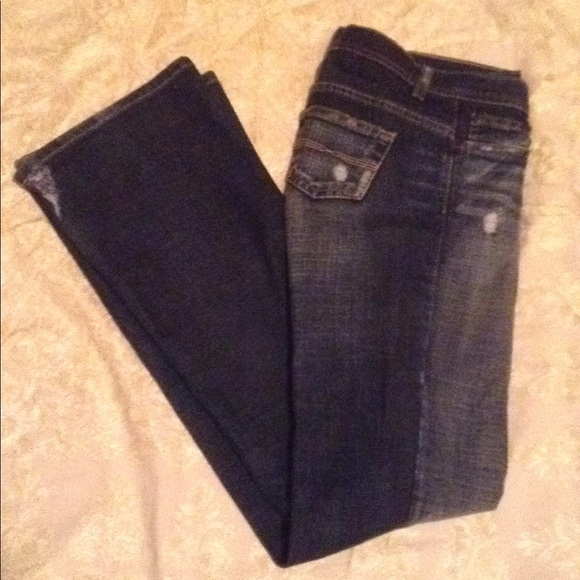 Express Denim - Express Precision Fit Distressed Low-Rise Jeans.